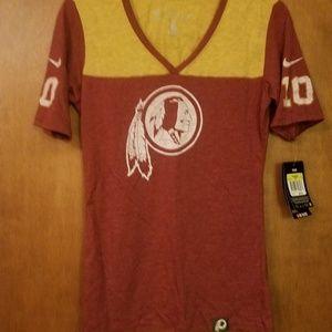 Womens Washington Redskins Jersey Shirt NWT Size S